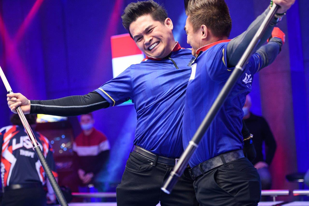 DRAMATIC NIGHT SEES GREAT BRITAIN A AND USA CRASH OUT OF WORLD CUP OF POOL