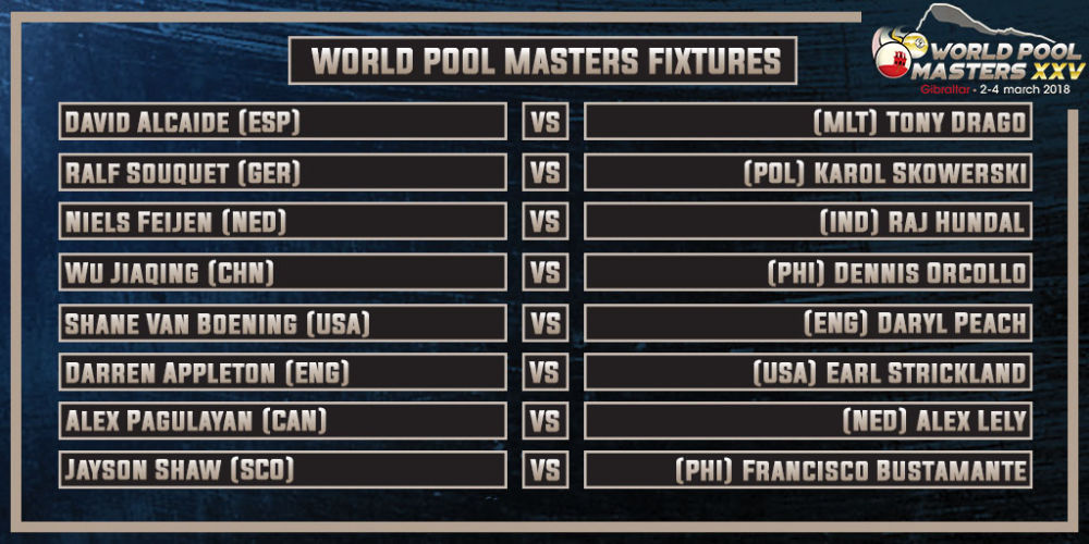 Draw Made For World Pool Masters XXV