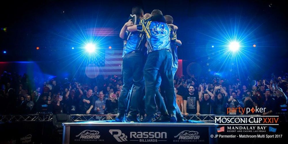 Europe are partypoker Mosconi Cup Champions